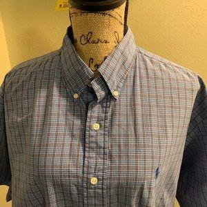 Ralph Lauran Short sleeve button up shirt (Size L)